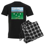 Free-Range Eggs Men's Dark Pajamas