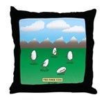 Free-Range Eggs Throw Pillow