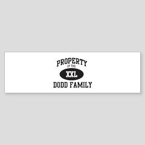 Property of Dodd Family Bumper Sticker