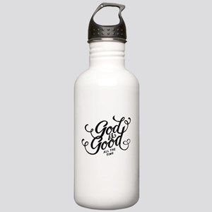 God is Good All the Time Water Bottle
