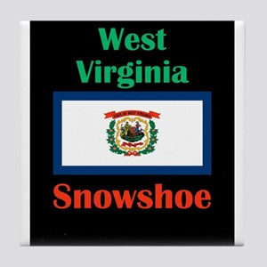 Snowshoe West Virginia Tile Coaster
