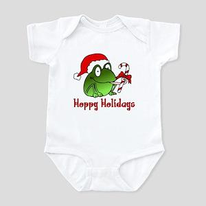Frog Santa Infant Bodysuit