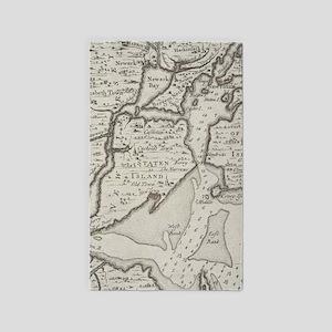 Vintage Staten Island & NYC Harbor Map (1 Area Rug