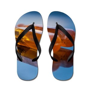 aa9f8a82e0bddb Melted Flip Flops - CafePress