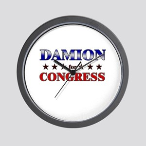 DAMION for congress Wall Clock