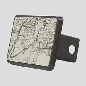 Vintage Staten Island & NY Rectangular Hitch Cover