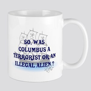 Columbus Question T-Shirts an Mug