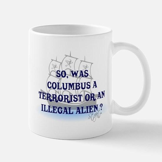 Columbus Question T-Shirts an Mug