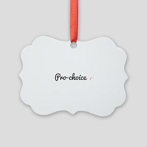 Pro-choice Picture Ornament