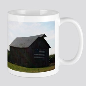 Patriotic Barn on Route 66 Mugs