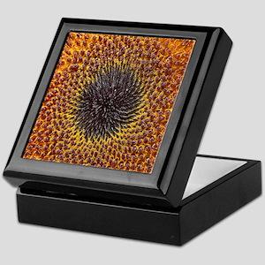 Bright Sunflower Close-up Keepsake Box