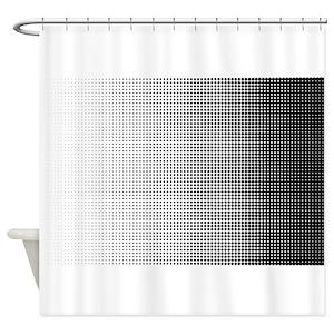 Halftone Shower Curtains