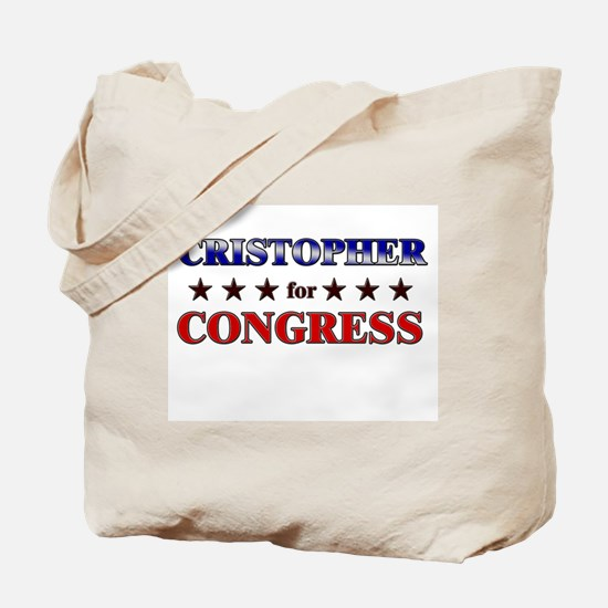 CRISTOPHER for congress Tote Bag