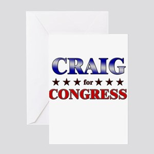 CRAIG for congress Greeting Card