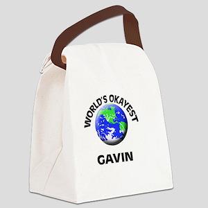 World's Okayest Gavin Canvas Lunch Bag