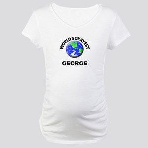 World's Okayest George Maternity T-Shirt