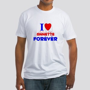 I Love Annette - Fitted T-Shirt
