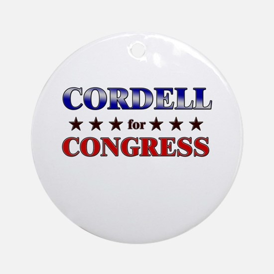 CORDELL for congress Ornament (Round)