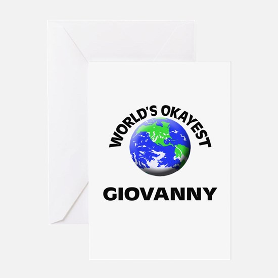 World's Okayest Giovanny Greeting Cards