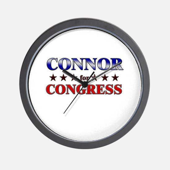 CONNOR for congress Wall Clock