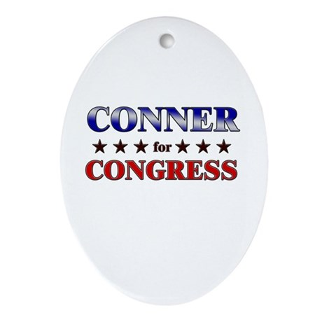 CONNER for congress Oval Ornament