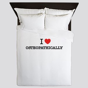 I Love OSTEOPATHICALLY Queen Duvet