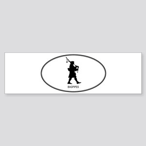 Bagpipes (euro-white) Bumper Sticker