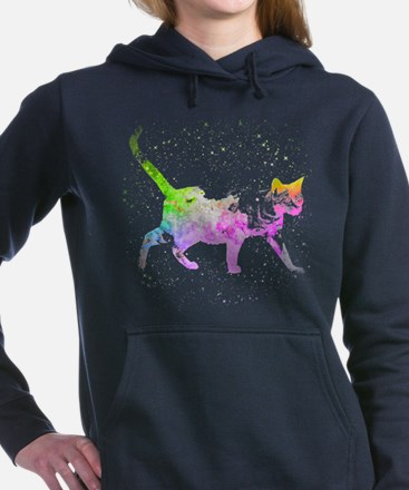 Space Cat Women's Hooded Sweatshirt