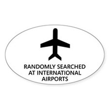Randomly Searched. Oval Sticker