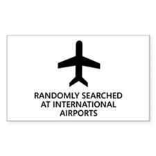 Randomly Searched. Rectangle Sticker