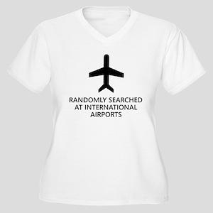 Randomly Searched. Women's Plus Size V-Neck T-Shir
