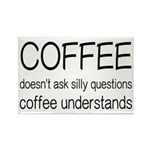 Coffee Understands Funny Rectangle Magnet