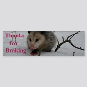 Snow Possum Bumper Sticker