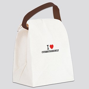 I Love CURMUDGEONLY Canvas Lunch Bag