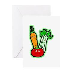 Vegetable Friends Greeting Card