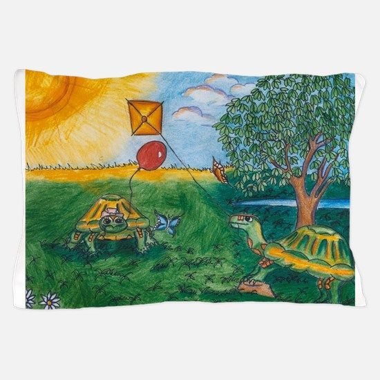 Jack and Jill Turtle Can I fly a kite Pillow Case
