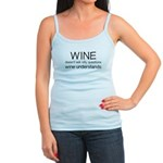 Wine Understands Jr. Spaghetti Tank