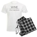 Wine Understands Men's Light Pajamas