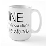 Wine Understands Large Mug