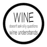Wine Understands Round Car Magnet
