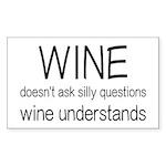 Wine Understands Sticker (Rectangle)