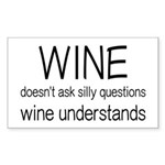 Wine Understands Sticker (Rectangle 10 pk)