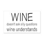 Wine Understands Rectangle Car Magnet