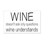 Wine Understands 20x12 Wall Decal