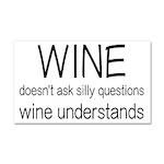 Wine Understands Car Magnet 20 x 12