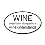 Wine Understands 20x12 Oval Wall Decal