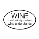Wine Understands 35x21 Oval Wall Decal