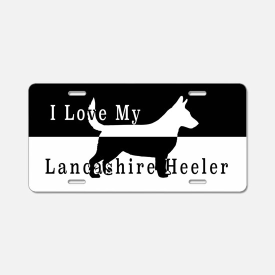 Unique Lancashire heeler Aluminum License Plate