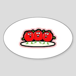 Tomato Friends Oval Sticker