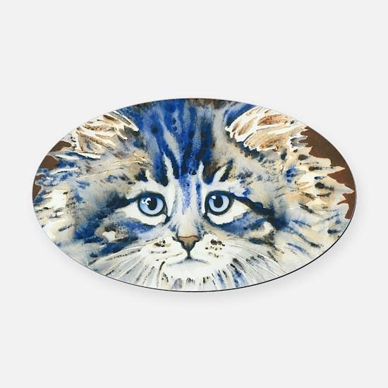 Unique Cat face Oval Car Magnet